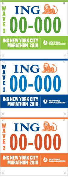 dossard du marathon de New York 2016