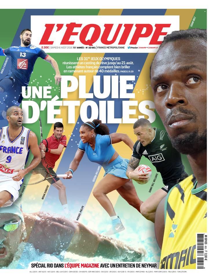 Journal l'Equipe du 6 aout 2016